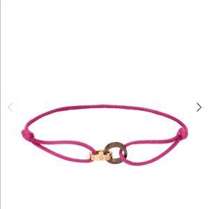 Love Bracelet (cord) PINK GOLD, CERAMIC, DIAMONDS